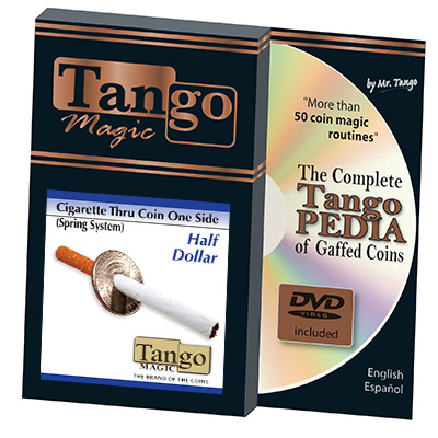 Cigarette Through Half Dollar (One Sided) by Tango