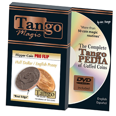 Flipper Coin Pro Flip Half Dollar/English Penny by Tango