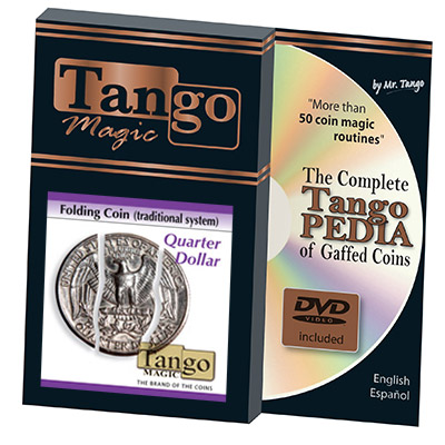 Folding Coin Quarter (Traditional) by Tango Magic