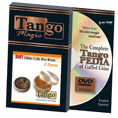 Slot Okito Coin Box Brass 2 Euro by Tango