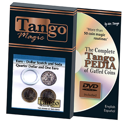 Euro-Dollar Scotch And Soda (Quarter Dollar and 1 Euro) by Tango Magic