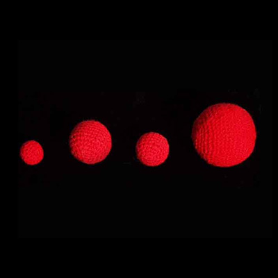 Crochet Balls - 1 Pulgada (Rojo) - Uday