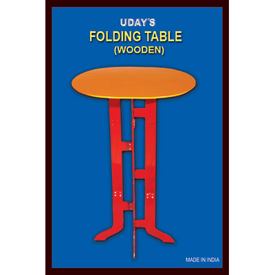 Folding Table (Wood) by Uday - Trick