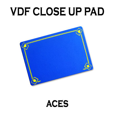 VDF Close Up Pad w/Printed Aces Blue by Di Fatta Magic magic trick