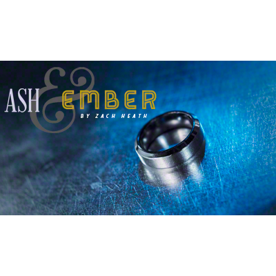 Ash and Ember Silver Beveled Size 8 (2 Rings) by Zach Heath  - Trick