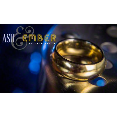 Ash and Ember Gold Curved Size 11 (2 Rings) by Zach Heath  - Trick