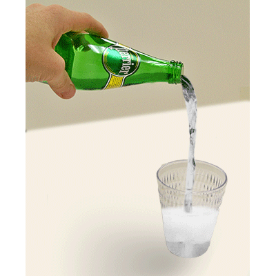 Air Perrier (bottle and Glass) by Wood Crafters - Trick