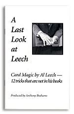 A Last Look at Leech book by Anthony Brahams
