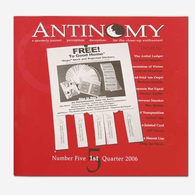 Antinomy Magazine #5 - Book