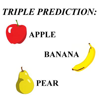 Apple, Banana, Pear