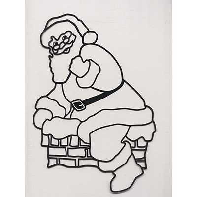 Instant Art insert (Santa in Chimney)by Ickle Pickle Magic - Trick