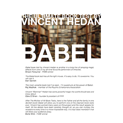 Babel Book Test (3 Books) by Vincent Hedan - Trick