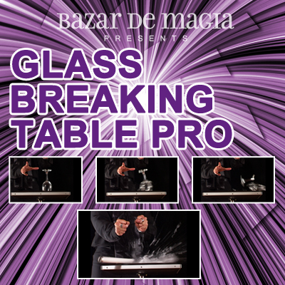Glass Breaking Table Pro (Table and DVD) by Bazar de Magia -Trick