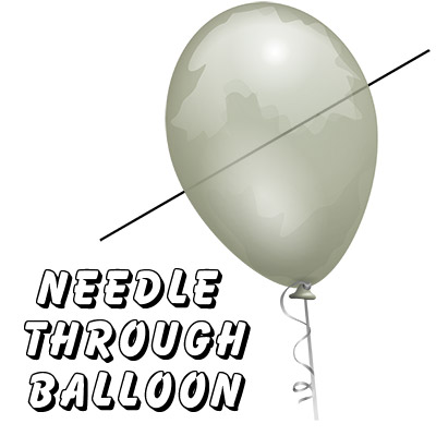 Needle Thru Balloon Professional (con 10 clear Globos) - Bazar de Magia