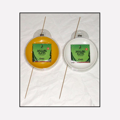 Spinning Plate Set (W/Wooden Stick and DVD) - Yellow by Zyko - Trick