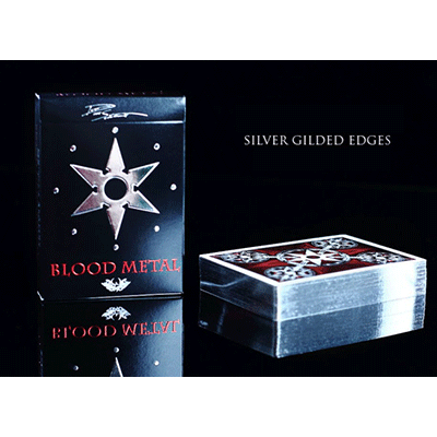 Limited Edition Blades Blood Metal Playing Cards by Handlordz, LLC - Trick