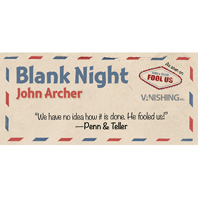 Blank Night (Yellow) by John Archer - Trick