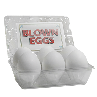 High Quality Blown Eggs(White / 6-pack)by The Great Gorgonzola - Trick
