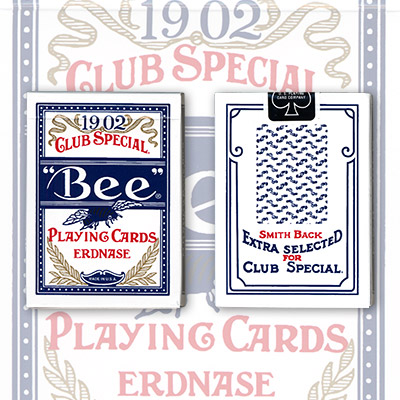 Erdnase 1902 Bee Playing Cards - Blue Smith No. 2 Back (Cambric Finish) - Limited Edition by Conjuring Arts - Trick