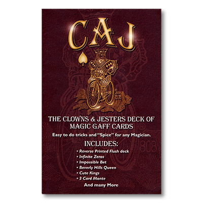 CAJ Deck- Deck of Misc. Gaff Cards and booklet