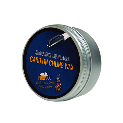 Card on Ceiling Wax 15g (Sharpie Lid Black) by David Bonsall - Trick