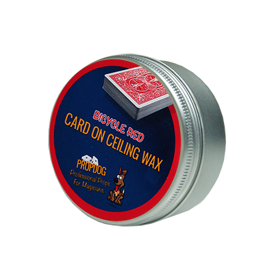 Card on Ceiling Wax 15g (red) by David Bonsall - Trick