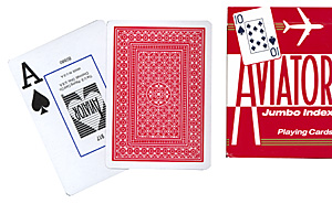 Cartas Aviator - Jumbo Index - Poker (Rojo)