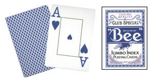 Cartas Bee - Poker Jumbo Index (Azul)