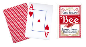 Cartas Bee - Poker Jumbo Index (Rojo)