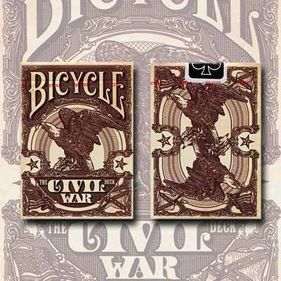 Bicycle Civil War Deck (Red) by US Playing Card Co