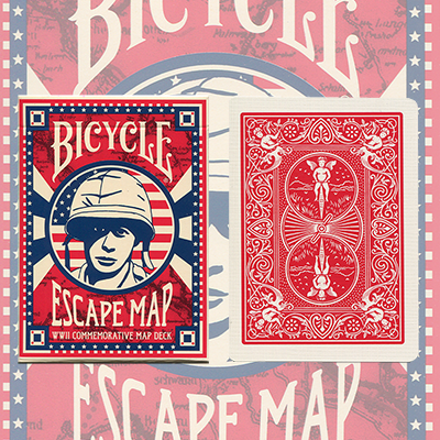 Bicycle Escape Map Deck by USPCC - Trick