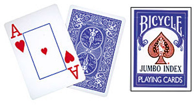 Cards Bicy. Jumbo Index (Blue)