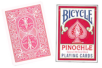 Cartas Bicycle - Pinochle Poker-size (Rojo)