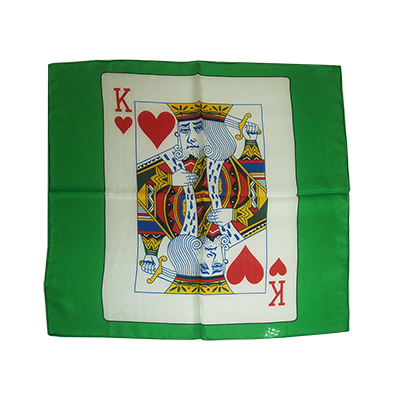 Card Silk 24 inch (King of Hearts) by Stolina Magic