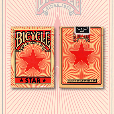 Bicycle Red Star Playing Cards by USPCC
