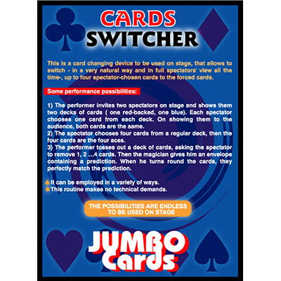 Cards Switcher (Jumbo) by Eduardo Kozuch - Trick