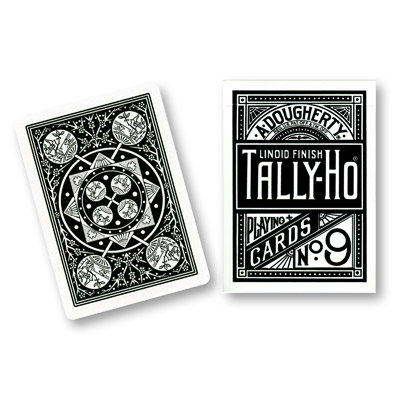 Cards Tally Ho Fan Back (Black) - Trick