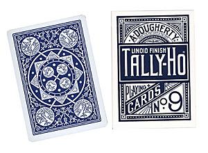 Cartas Tally Ho Fan Back Poker - Azul