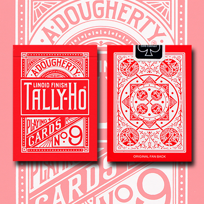 Tally Ho Reverse Fan back (Rojo) Limited Ed. -  Aloy Studios / USPCC