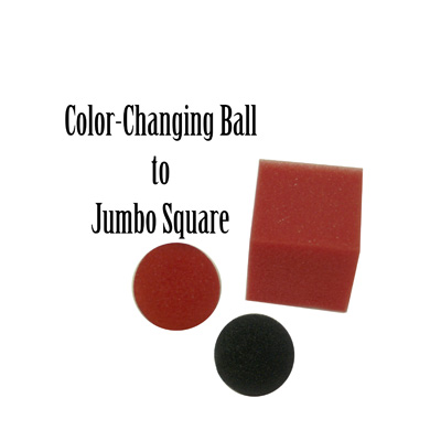 Color Changing Ball to Jumbo Square by Magic By Gosh - Trick