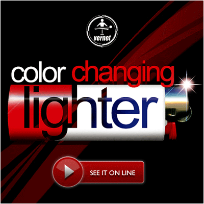 Farbwechselndes Feuerzeug Zaubertrick Fantasio Color Changing Lighter by Vernet Magic