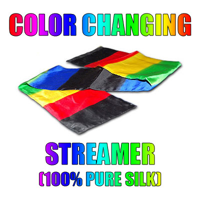 Color Changing Streamer 100% Silk by Vincenzo Di Fatta - Tricks