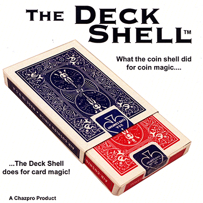 Deck Shell (Blue) with DVD by Chazpro Magic & Collectibles - Trick