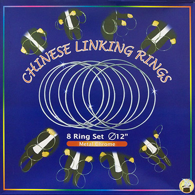 Chinese Linking Rings (12 inch, CHROME) - Vincenzo Difatta