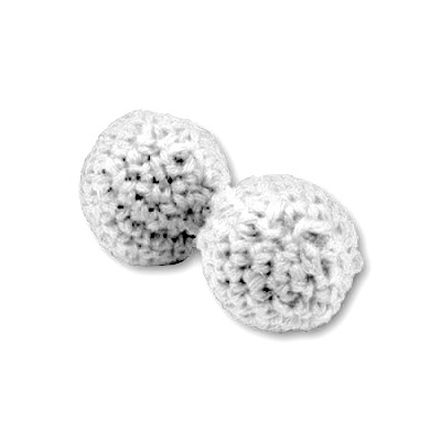 Chop Cup Balls 3/4 inch White (Set of 2) by Morrissey Magic - Trick