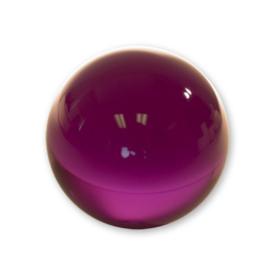 Contact Juggling Ball (Acrylic, PURPLE, 76mm) - Trick