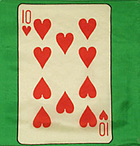 "12"" Card Silk - 10 Of Hearts"
