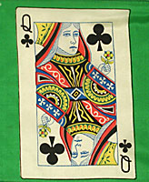"12"" Card Silk - Queen Of Clubs."