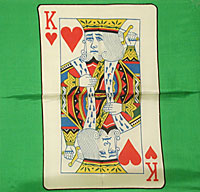 "Card Silk 18"" (king of hearts)"