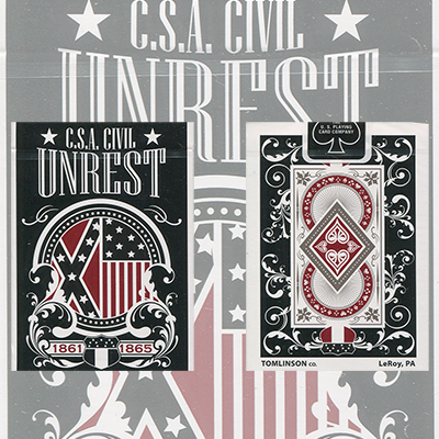 C.S.A. Civil Unrest Deck (Limited Edition / Confederate) by USPCC - Trick